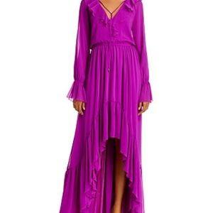 Ramy Brook NWT Tina Purple Ruffled Maxi Dress